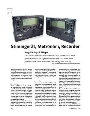 Gitarre & Bass Korg  TMR-50 & TM-50, Tuner/Recorder