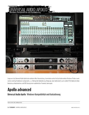 Sound & Recording Universal Audio Apollo - Windows-Kompatibilität und Kaskadierung