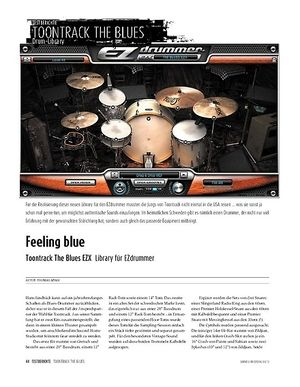 Sound & Recording Toontrack The Blues EZX - Drums- & Patterns-Library für EZdrummer