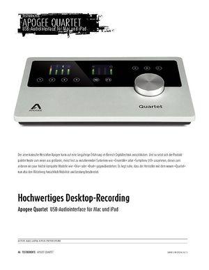 Sound & Recording Apogee Quartet - hochwertiges USB-Interface für Mac und iPad