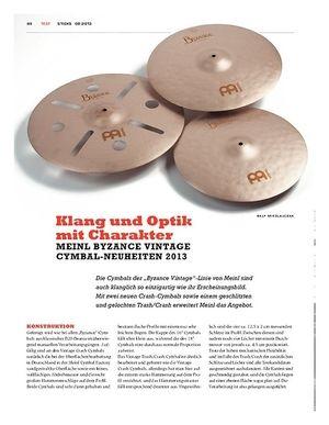 Sticks Meinl Byzance Vintage Cymbal-Neuheiten