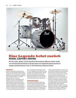 Sticks Pearl Export Drums