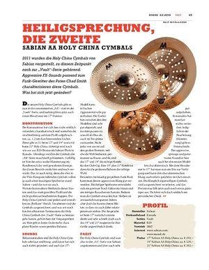 Sticks Sabian AA Holy China Cymbals