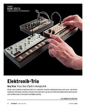 Keyboards Korg Volca-Serie - Drumcomputer, Bass- und Loop-Synthesizer
