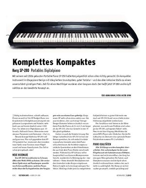 Keyboards Korg SP-280 - Portables Digitalpiano
