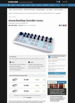 MusicRadar.com Arturia BeatStep Controller