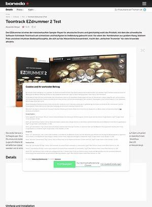 Bonedo.de Toontrack EZdrummer 2