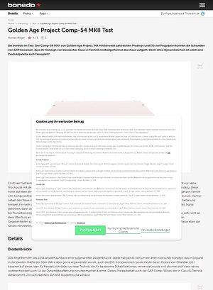 Bonedo.de Golden Age Project Comp-54 MKII