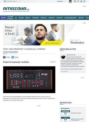 Amazona.de Test: DSI Prophet 12 Module, Hybrid-Synthesizer