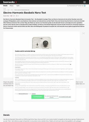 Bonedo.de Electro-Harmonix Bassballs Nano