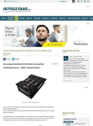 Amazona.de Test: Allen&Heath Xone:23, 2+2-Kanal DJ-Mixer
