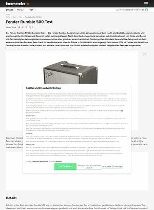 Bonedo.de Fender Rumble 500