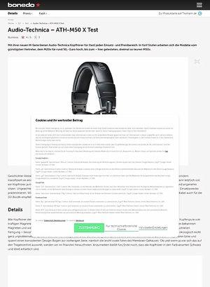 Bonedo.de Audio-Technica  ATH-M50 X