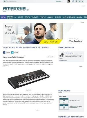 Amazona.de Test: Korg Pa300, Entertainer Keyboard