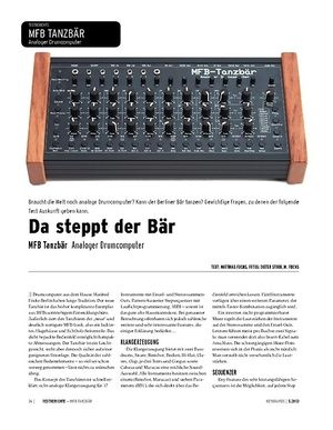 Keyboards MFB Tanzbär - Analoger Drumcomputer