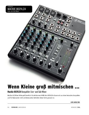 Keyboards Mackie 802VLZ4 - Kompakter Live- und Sub-Mixer