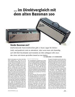 Gitarre & Bass Fender  Bassman 100T, Bass-Top