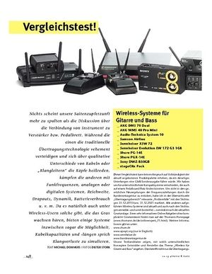 Gitarre & Bass Vergleichstest! Wireless-Systeme für Gitarre und Bass