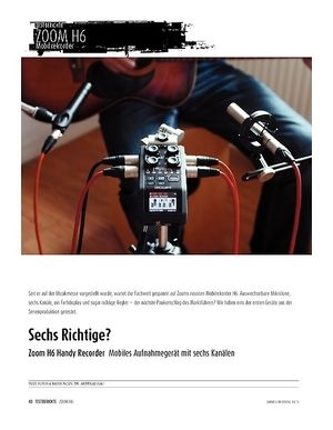Sound & Recording Zoom H6 Handy Recorder - Mobiles Aufnahmegerät mit sechs Kanälen