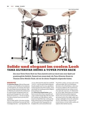 Sticks Tama Silverstar Drums & Tower Power Rack
