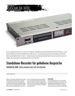 Sound & Recording TASCAM DA-3000 - Stereo-Audiorecorder A/D-D/A-Wandler