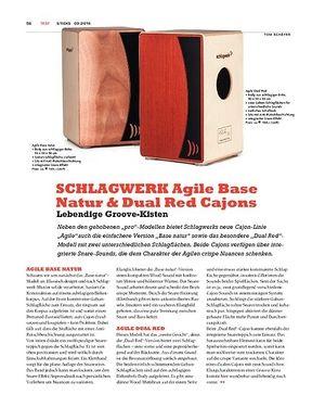 Sticks SCHLAGWERK Agile Base Natur & Dual Red Cajons