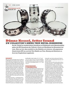 Sticks DW Collector's Series Thin Metal Snaredrums
