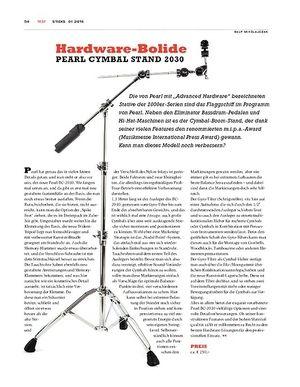 Sticks Pearl Cymbal Stand 2030 - Verfeinerter Klassiker