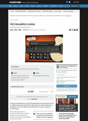 MusicRadar.com Vir2 Acou6tics