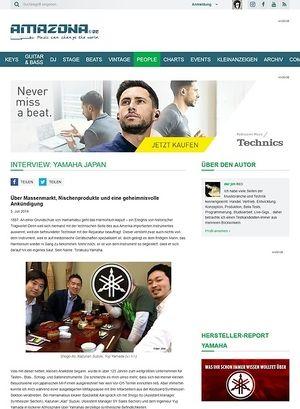 Amazona.de Interview: Yamaha Japan