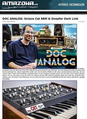 Amazona.de DOC ANALOG: Mission Octave Cat SRM & Doepfer Dark Link