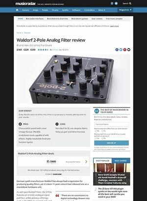 MusicRadar.com Waldorf 2-Pole