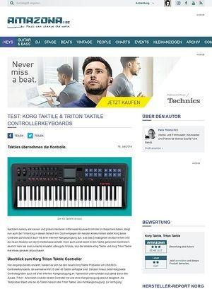 Amazona.de Test: Korg Taktile & Triton Taktile, USB/MIDI-Controllerkeyboard