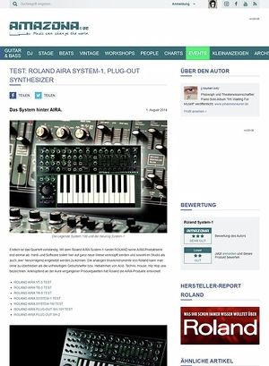 Amazona.de Test: Roland AIRA System-1, Plug-out Synthesizer