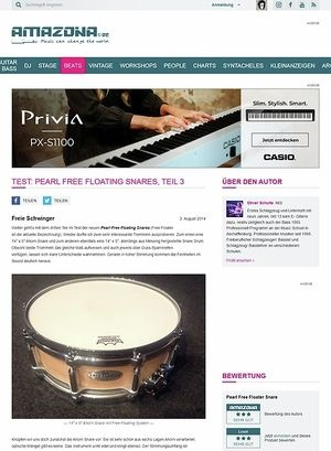 Amazona.de Test: Pearl Free Floating Snares, Teil 3
