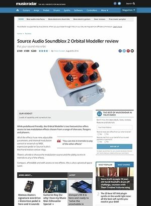 MusicRadar.com Source Audio Soundblox 2 Orbital Modeller
