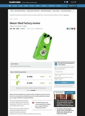 MusicRadar.com Mooer Mod Factory