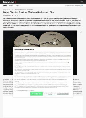 Bonedo.de Meinl Classics Custom Medium