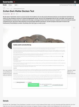 Bonedo.de Zultan Dark Matter Becken