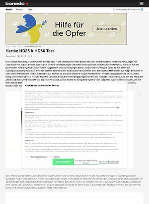 Bonedo.de Hartke HD25 & HD50