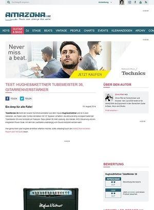 Amazona.de Test: Hughes&Kettner TubeMeister 36, Gitarrenverstärker
