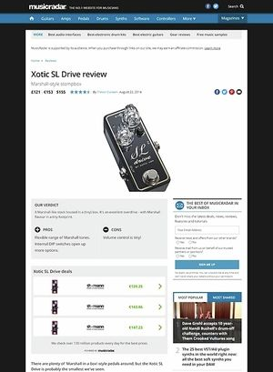 MusicRadar.com Xotic SL Drive