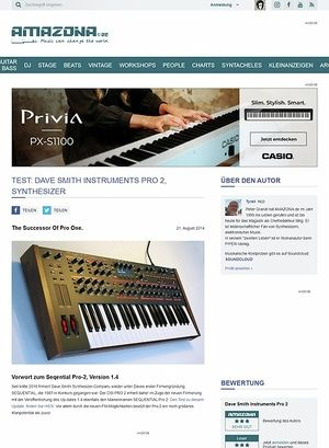 Amazona.de Test: Dave Smith Instruments Pro 2, Synthesizer