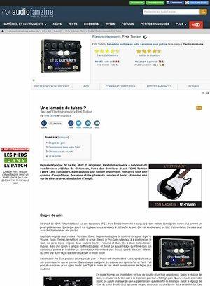 Audiofanzine.com Electro-Harmonix Tortion