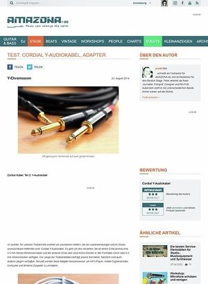 Amazona.de Test: Cordial Y-Audiokabel, Adapter