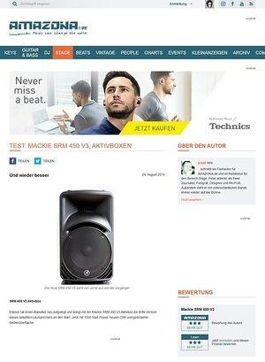 Amazona.de Test: Mackie SRM 450 V3, Aktivbox