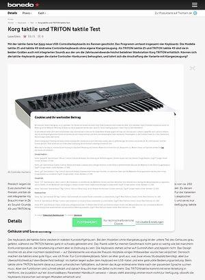 Bonedo.de Korg taktile und TRITON taktile