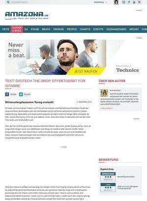 Amazona.de Test: Digitech The Drop, Effektgerät für Gitarre
