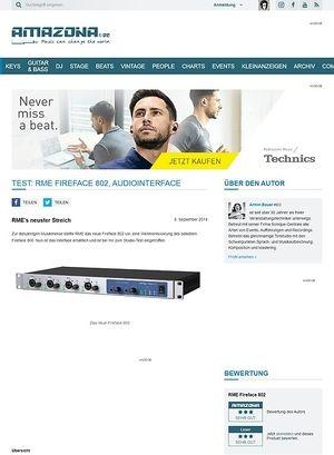 Amazona.de Test: RME Fireface 802, Audiointerface