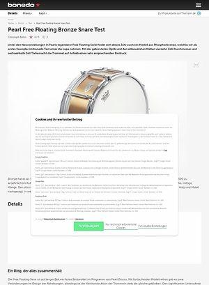 Bonedo.de Pearl Free Floating Bronze Snare